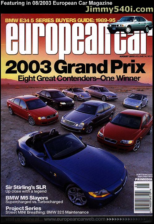 Jimmy S 485hp Dinan Bmw 540i E39 Article Review In European Car