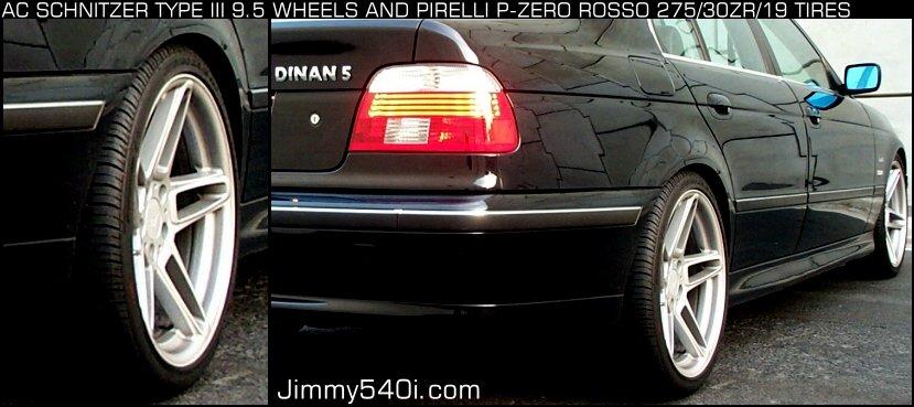 """275 35 19 >> (R) 19"""" X 9.5"""" AC Schnitzer Type III, 275/30/ZR19 Pirelli ..."""
