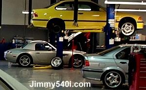 Dinan Z8 & M3 in the Dinan Garage.