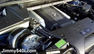 Engine of Dinan Supercharged X-5 4.4i (E53).
