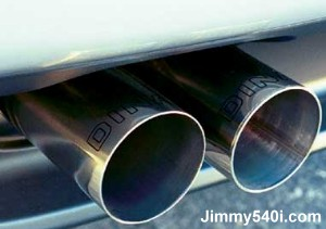 Exhaust of Dinan Supercharged X-5 4.4i (E53).