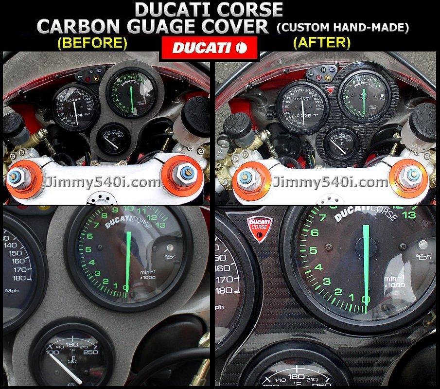 ducati corse carbonfiber gauge cover custom handmade