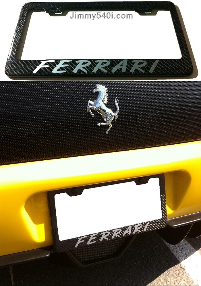360 Carbon-Fiber License Plate Frame :-) - Ferrari Life
