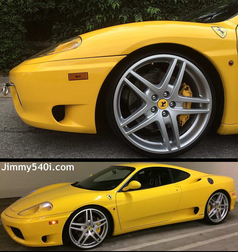 "Ferrari F430 2009 19 Oem Scuderia Front Wheel Rim: Go Back To: ""Jimmy540i'com's YELLOW FERRARI"""